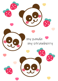 Panda & Strawberry 2