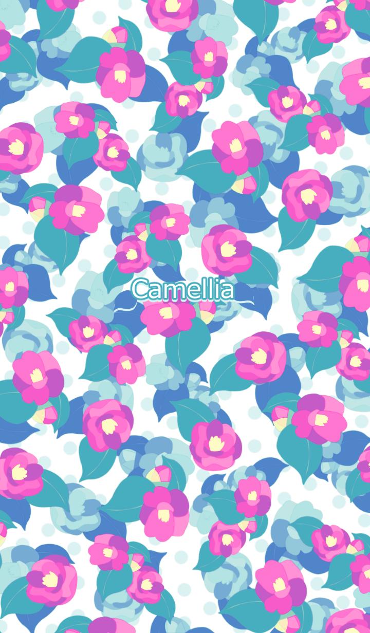 Retro pop camellia -Pink-
