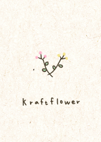 Adult kraft paper and flowers.