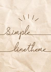 Simple Line kraft Paper #Brown