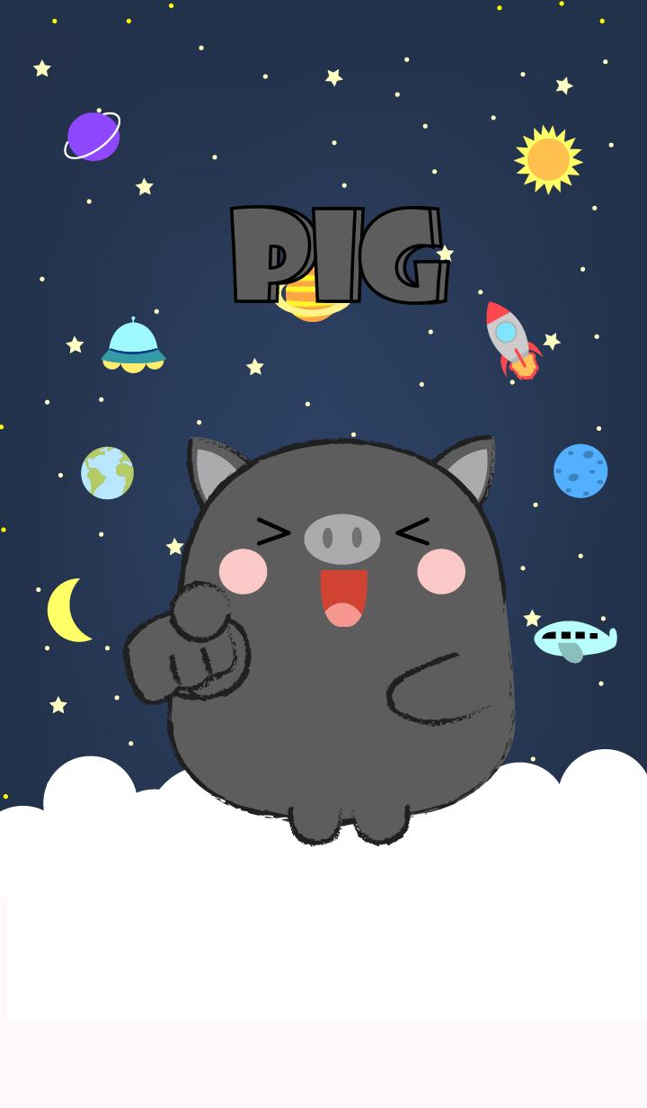 Emotions Black Pig On Galaxy