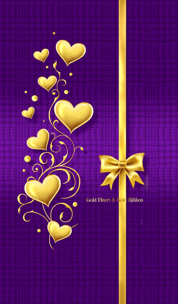 Gold Heart & Gold Ribbon 4