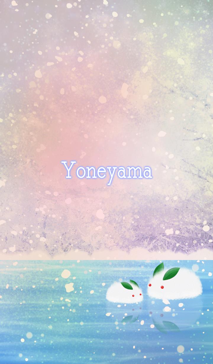 Yoneyama Snow rabbit on ice
