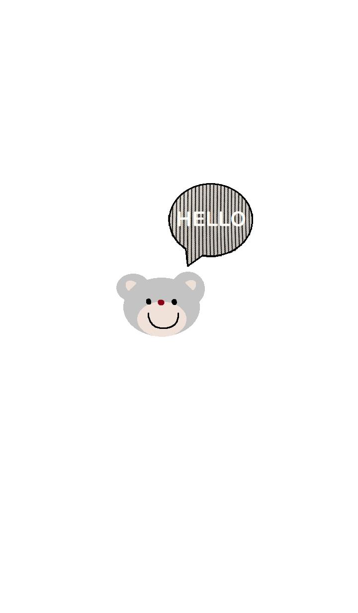 simple Bear theme x (white)