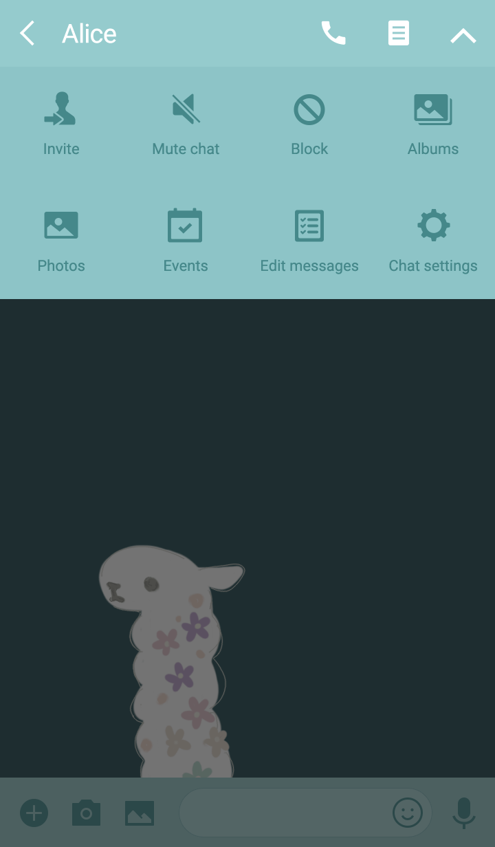 Alpaca and flower
