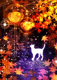 Autumn leaves and Cat (fc)
