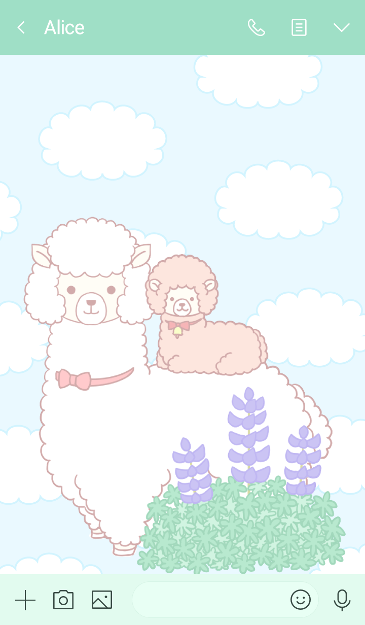 Parent and child of an alpaca Al& Leloup