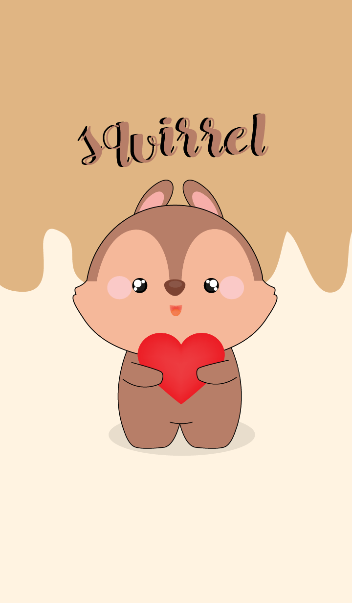Love Love Cute squirrel