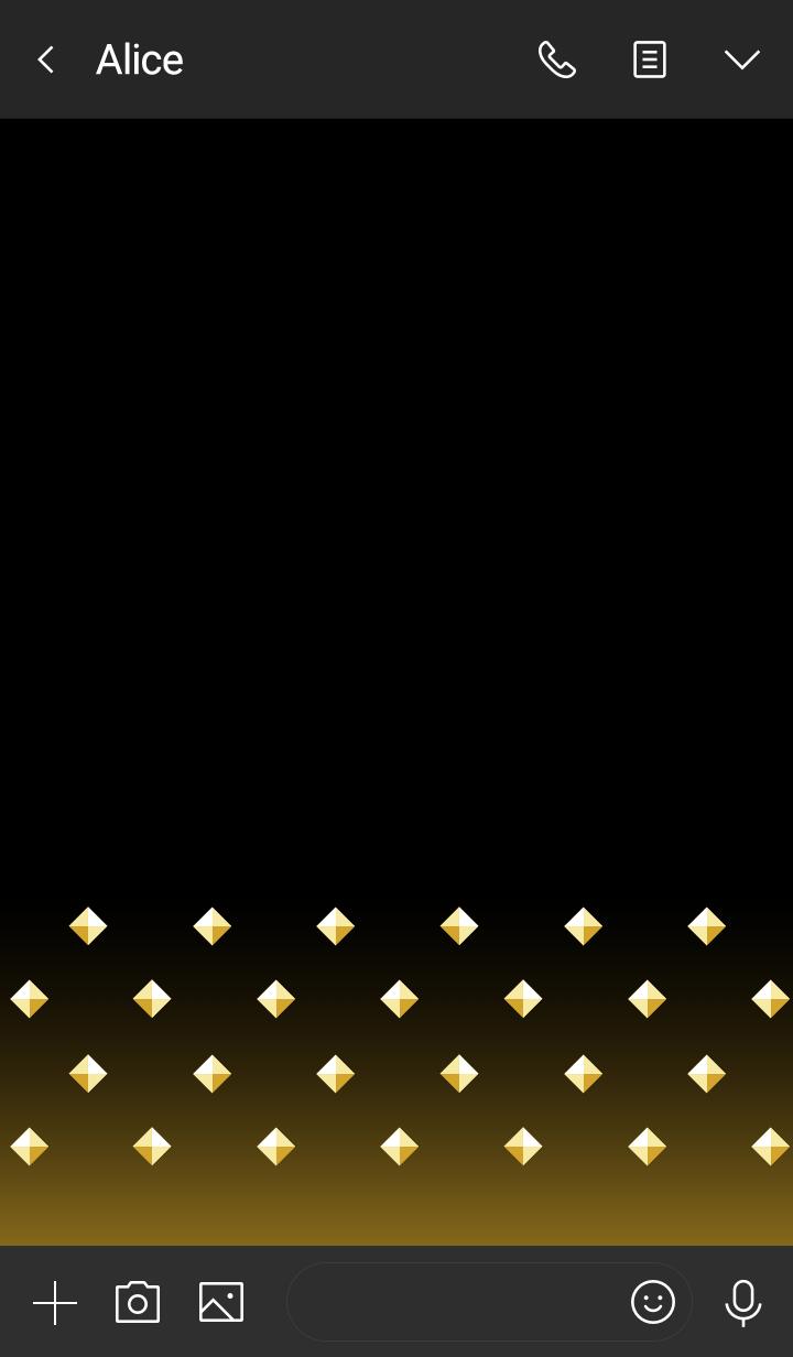 Pyramid studs -Gold-