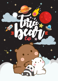 Bear Pastel Galaxy Black