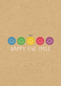 HAPPY CROWN SMILE 27 -5color KRAFT-