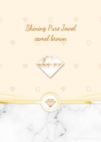 Shining Pure Jewel camel brown