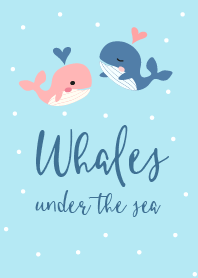 Whales under the sea