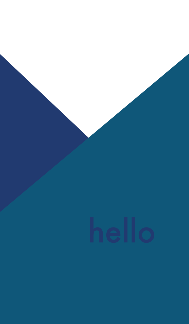 hello - indigo & black
