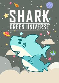 浩瀚宇宙 寶貝鯊魚出沒 綠色