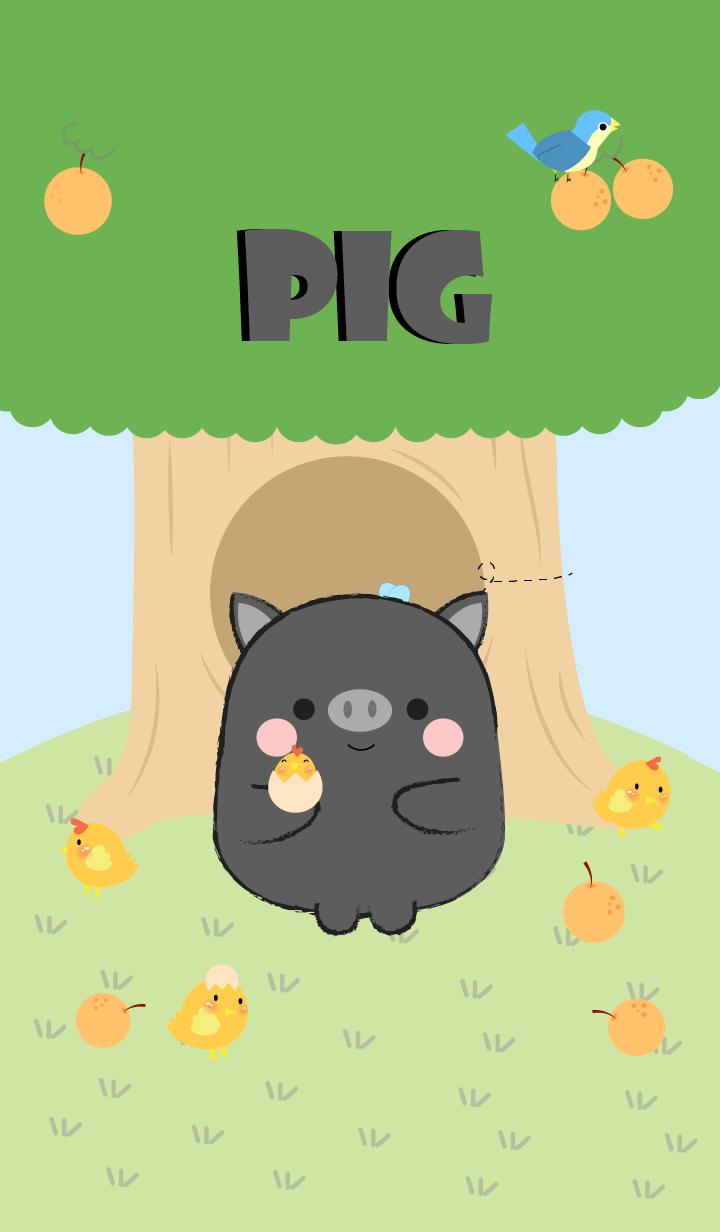 Black Pig With Tree Theme (jp)