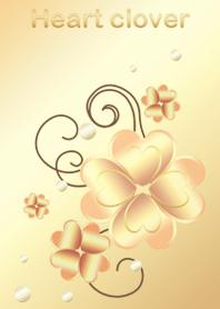 Heart clover -Gold-