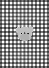 simple Bear theme khaki black check