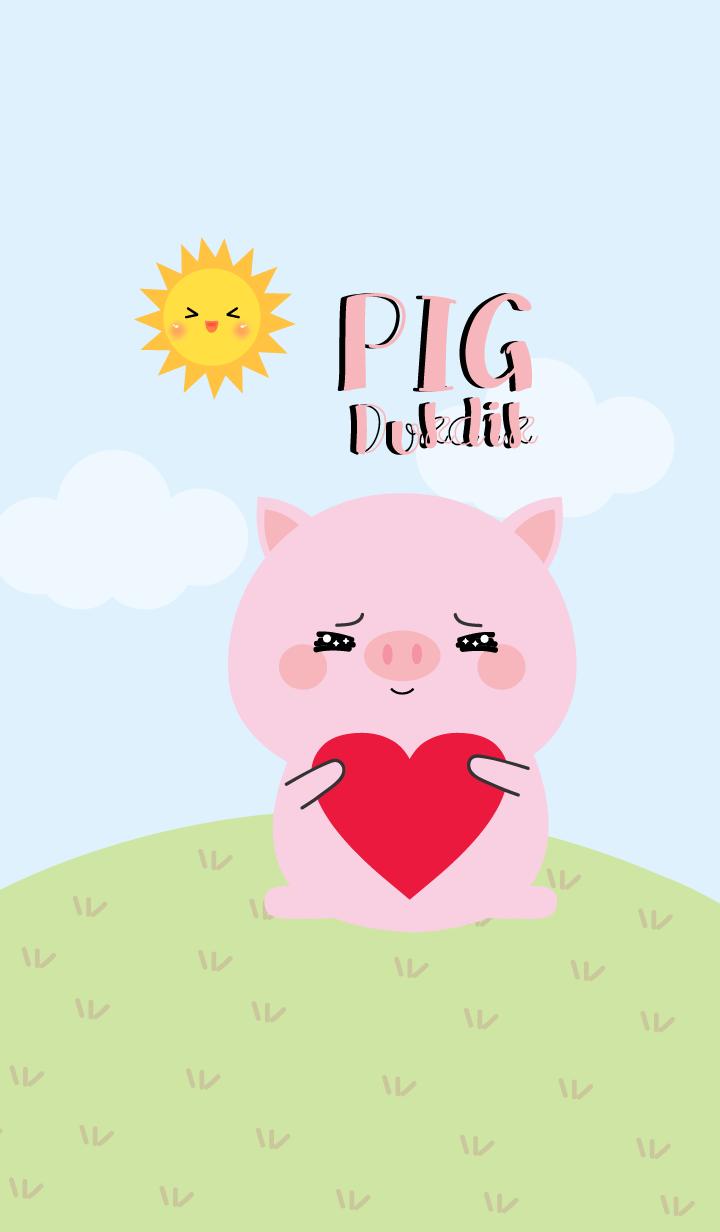 Lovely Pink Pig Duk Dik Theme 2 (jp)