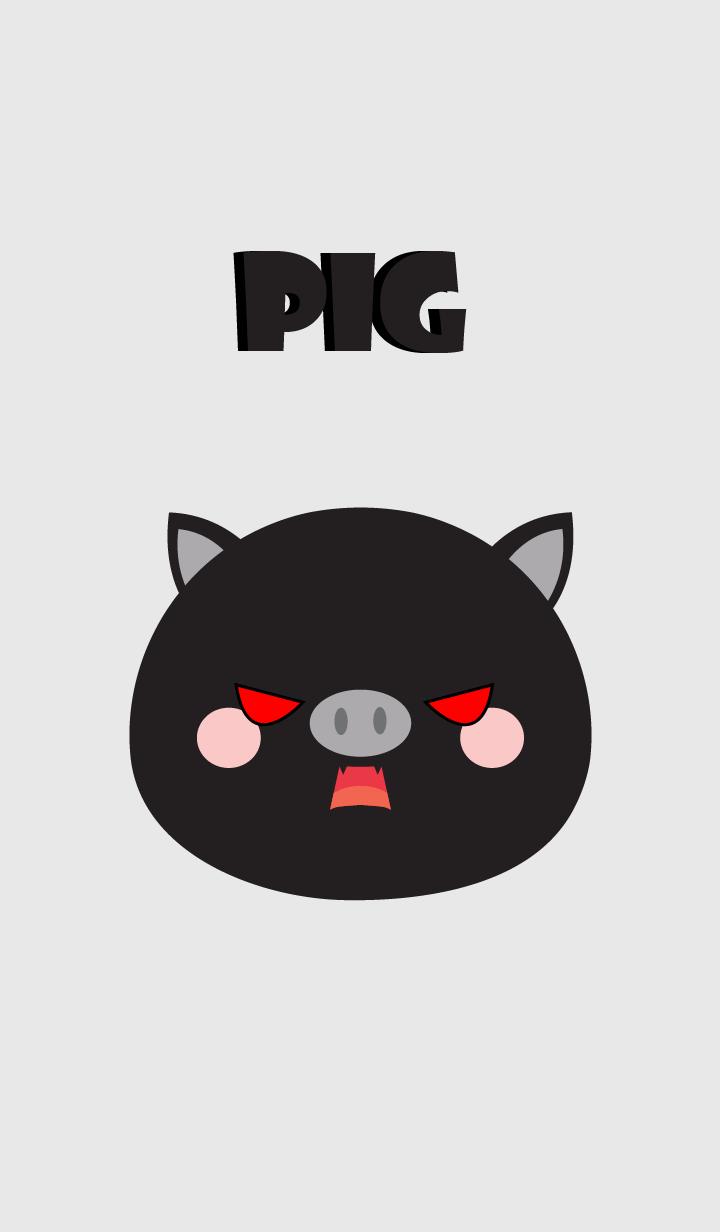 Love Simple Black Pig Theme (jp)
