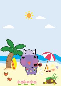 Simple cute hippo theme
