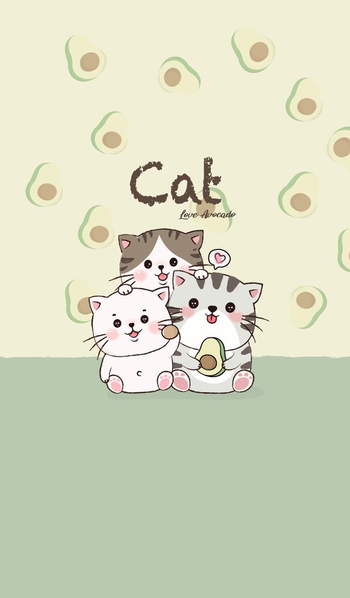Cat Love Avocado.