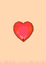 Simple Diamond Heart 105