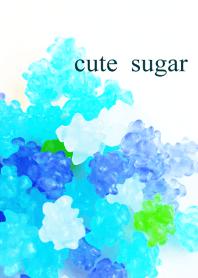 Blue sugar candy