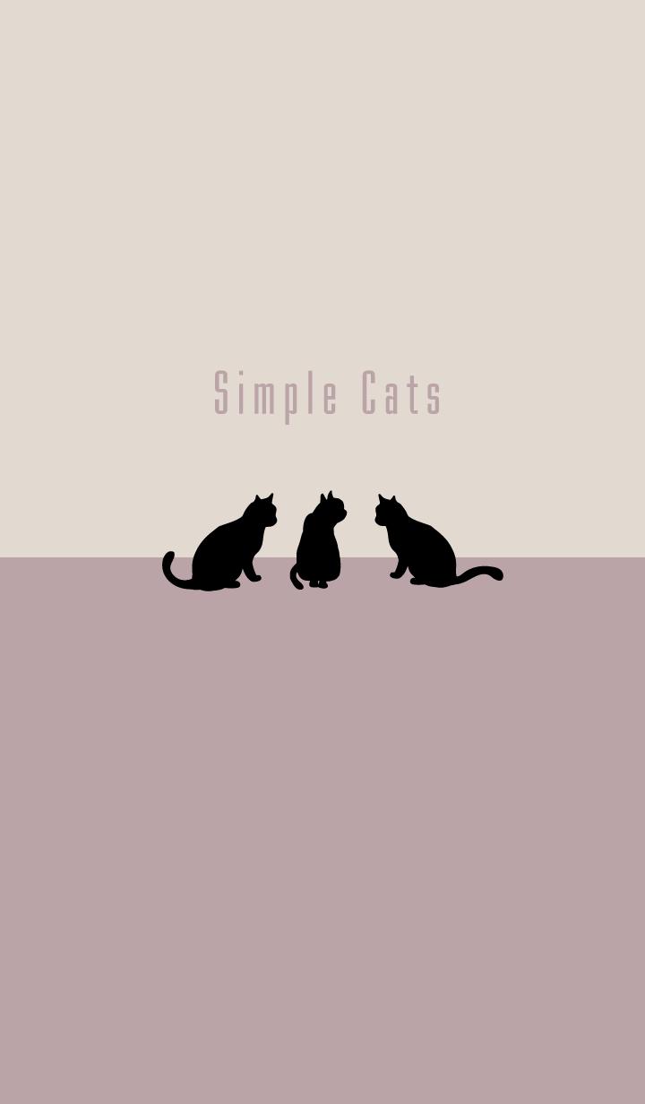シンプルな猫:ピンクベージュ