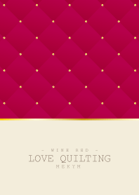 LOVE QUILTING WINE RED 4 #2020