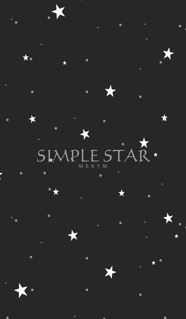 SIMPLE STAR -MAT BLACK-