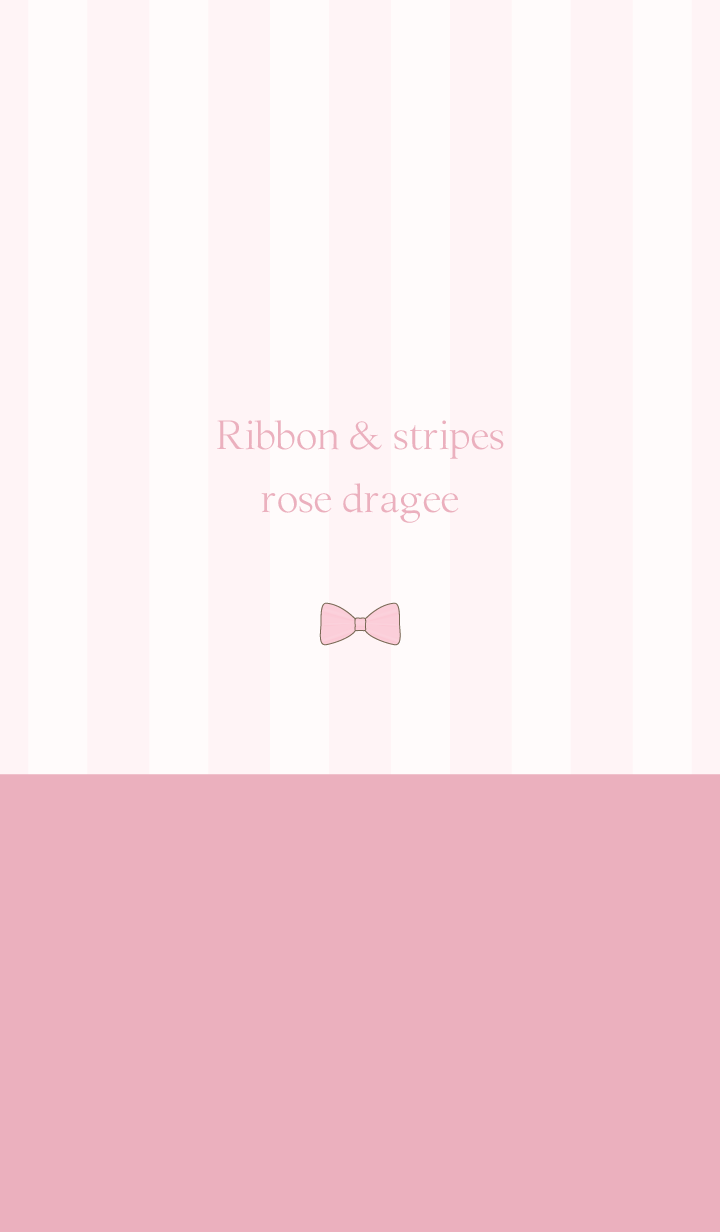 Ribbon & stipes rose dragee