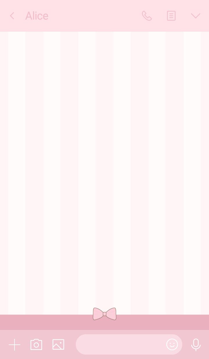 Ribbon & stipes rose dragee