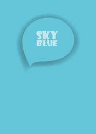 Love Sky Blue Button