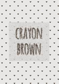Crayon Brown 3 / หัวใจ