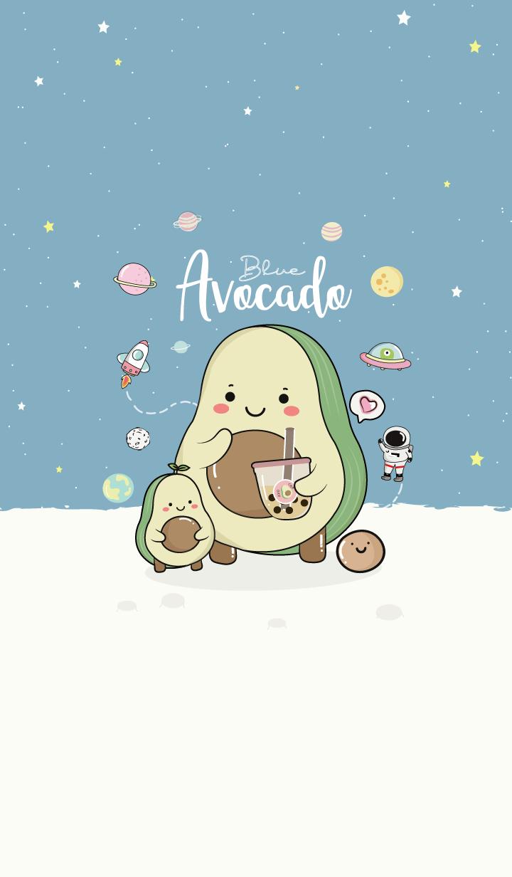 Avocado blue space.