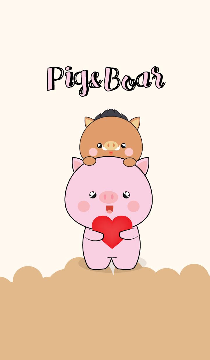 Cute Pig & Boar (jp)