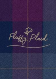 Fluffy Plaid #Navy&Purple