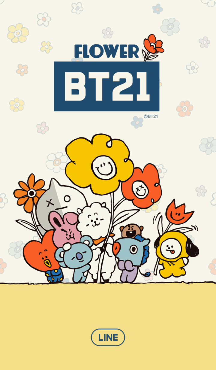 BT21 Colorful Flowers