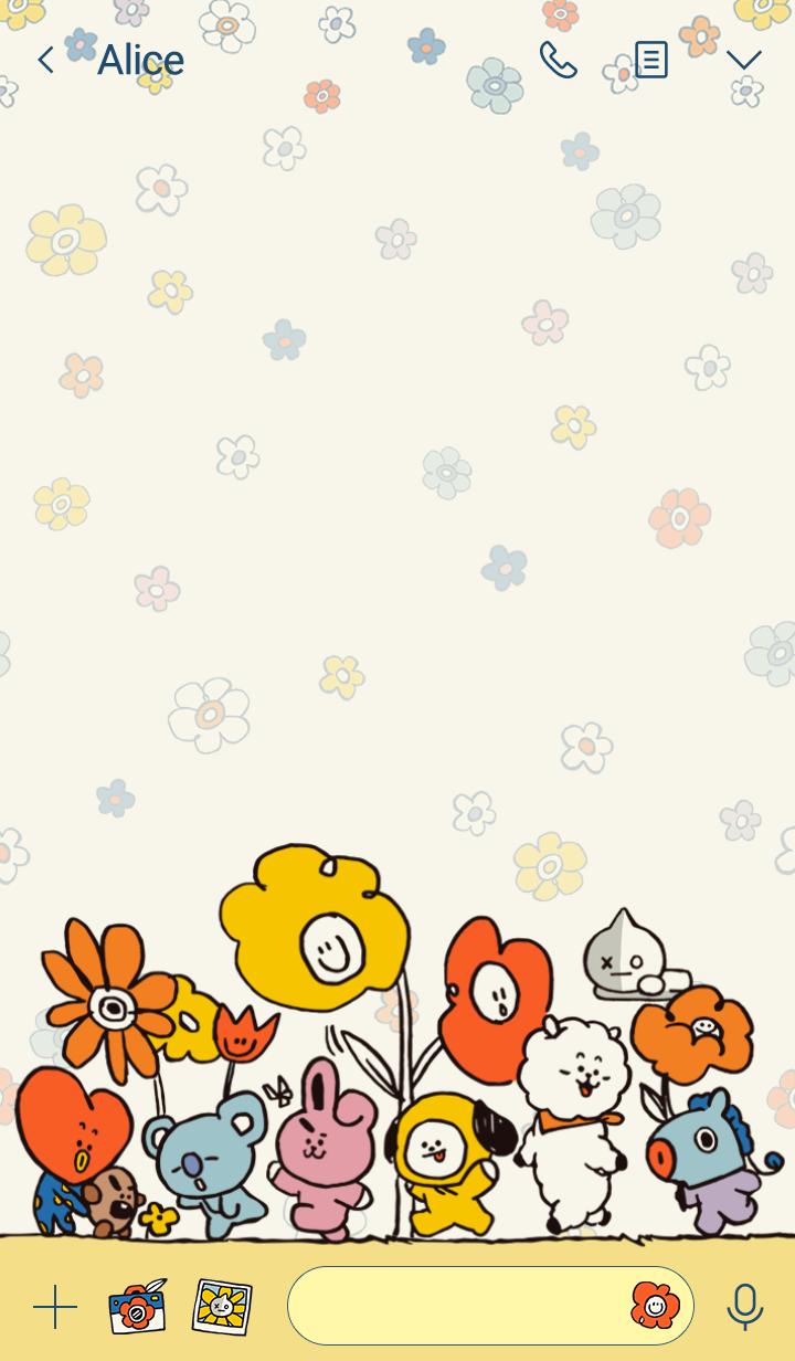 BT21 缤纷花朵