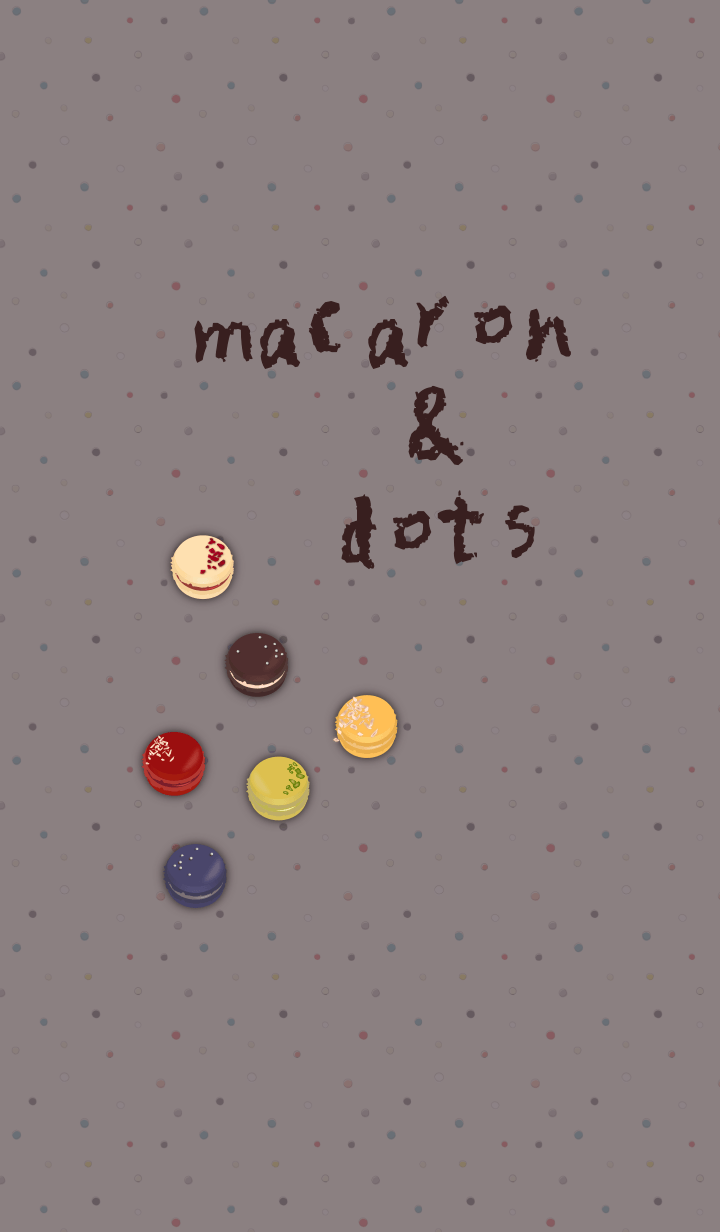 macarons & dots + camel