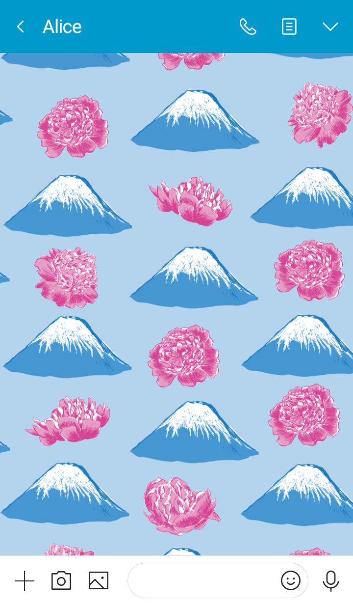 富士山と芍薬~Pavish Pattern~