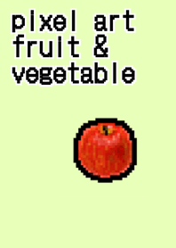 Pixel Art Fruit Vegetable Line Theme Line Store
