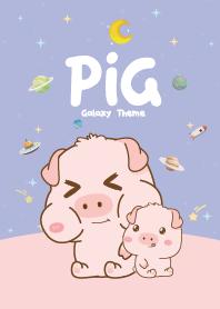 Pig Cutie Galaxy Violet