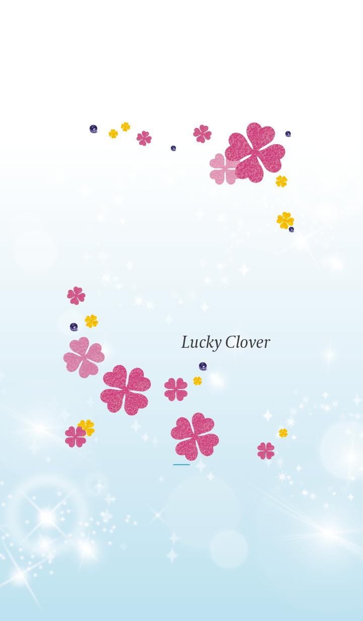 Blue : Lucky pink clover