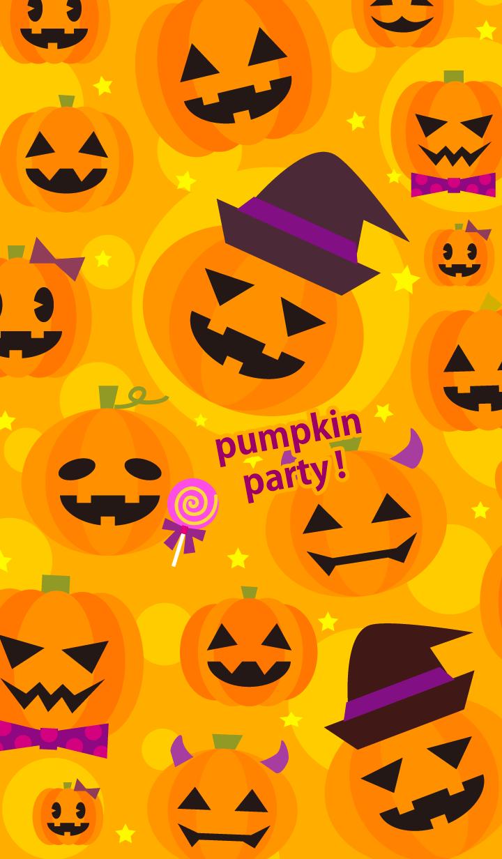 pumpkin party in Halloween