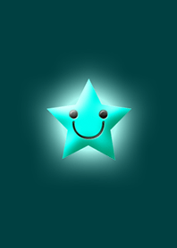 Simple star light blue