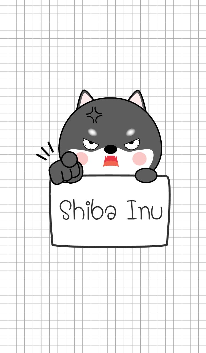 Simple Angry Black Shiba Inu (jp)