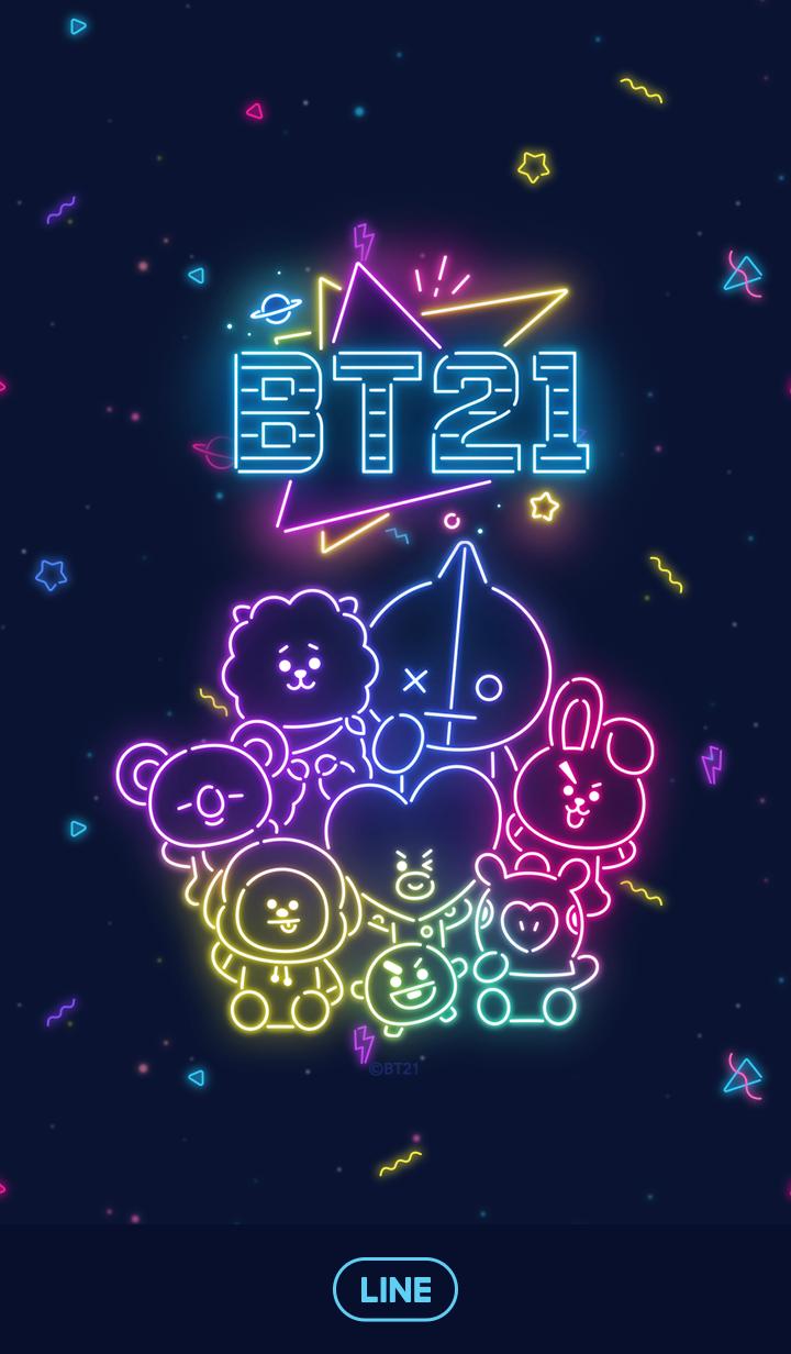 BT21 ネオンダンス