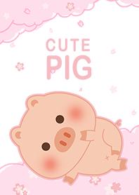 可愛寶貝豬 櫻花 粉紅色